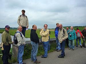 Tijdens de wandeling langs de Voorstelling bij Spaarndam.