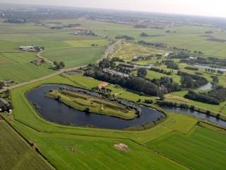 Luchtfoto van het Fort bij Veldhuis.