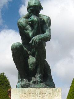 De Denker / Le Penseur door Rodain.