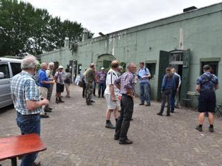 Bezoek aan Fort bij de Liebrug in 2017.